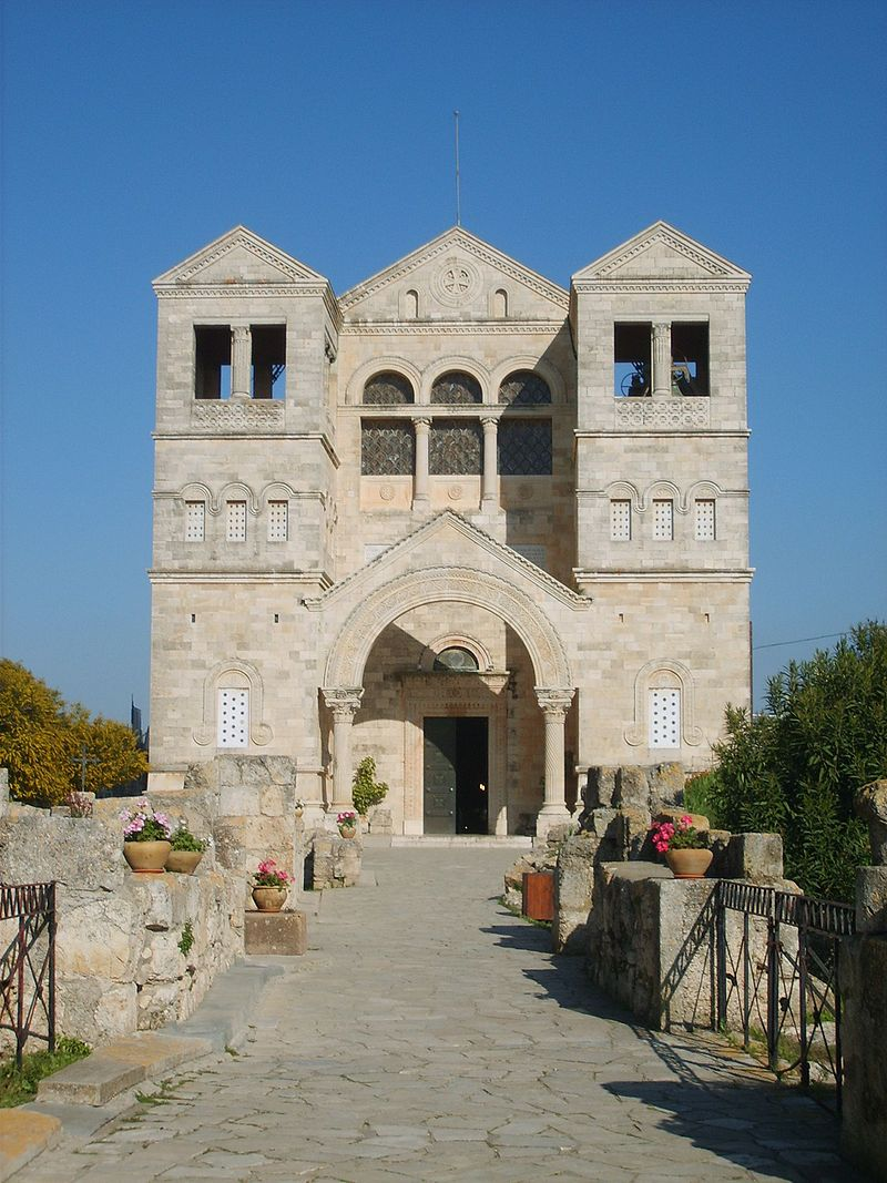 800px-Church of Transfiguration Mount Tabor200704